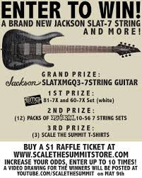 scale the summit host raffle for jackson guitar announce new progressive instrumentalists scale the summit are currently hosting a raffle sponsored by jackson guitars emg pickups and ernie ball strings