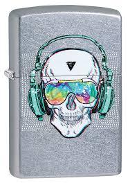 Заказать <b>Зажигалка ZIPPO Skull Headphone</b> с покрытием Street ...