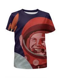 """Футболка с полной запечаткой для девочек """"<b>Гагарин</b>"""" #1842997 ..."""