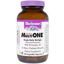 Bluebonnet Nutrition, <b>Multi One</b>, <b>Single Daily</b> Multiple, Iron-Free, 120 ...