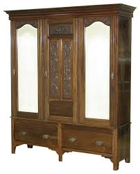 consigned antique walnut victorian sectional armoire wardrobe closet victorian armoires and wardrobes antique english wardrobe armoire