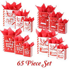 Funny Puns <b>65 Piece</b> Christmas Gift Bag Set with Tissue <b>Paper</b> and ...