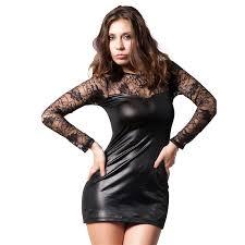 <b>MUXU black</b> sexy transparent lace <b>dress</b> bodycon <b>fashion women</b> ...