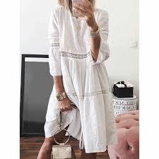 <b>vestidos verao Women Summer</b> Casual Solid Short Sleeve Dress ...