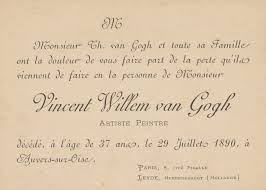 an exhibit examines van gogh s illness from a rusty revolver to a funeral card for the death of vincent van gogh 1890 image courtesy