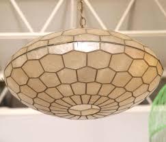 hand blown capiz shell pendant light wonderful decoration metal base hanging lamp contemporary ceiling ideas capiz shell lighting fixtures