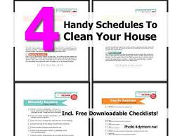 house cleaning schedule daily weekly monthly printable editable 4 handy schedules to clean your house