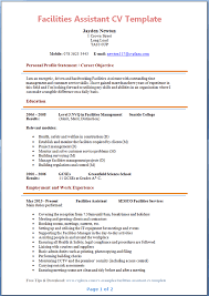 Facilities Assistant CV Example Preview Page
