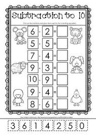 Subtraction worksheets, Worksheets and Cut and paste on Pinterest