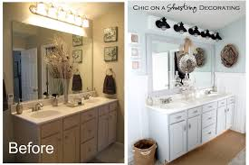 friendly bathroom makeovers ideas: chic on a shoestring decorating beachy bathroom reveal
