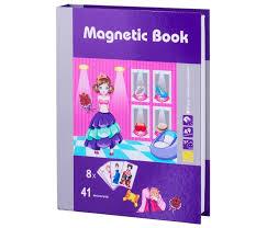 <b>Развивающая</b> игрушка <b>Magnetic Book игра</b> Маскарад 49 деталей ...