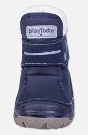 Синие зимние ботинки для <b>девочек PlayToday</b> 397200 – купить в ...
