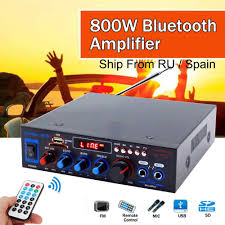 <b>HIFI 2CH 800W</b> Power bluetooth Audio Amplifier 12/220V Home ...