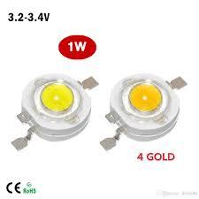 <b>100Pcs lot</b> Full Watt 1W High Power LED lamp Beads 110- 120LM