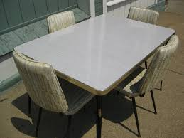 1950 Dining Room Furniture 50 S Chrome Kitchen Chairs Vintage 1950 S Formica Kitchen Table W