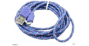 2m - <b>Micro</b> USB <b>Braided</b> Charge cable - data / charge cable 2m ...
