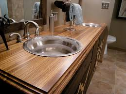 bathroom vanities tops choices choosing countertops: bathroom countertop material options dbth bathroom sink sxjpgrendhgtvcom bathroom countertop material options