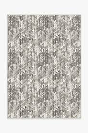 <b>Watercolor</b> Herringbone Grey Rug | Washable Rug | Ruggable