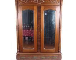 antique wardrobe armoire victorian late 19th c large mirror doors va provenance antique english wardrobe armoire