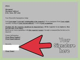 how to write a letter requesting non deportation of a person