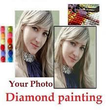 30-<b>100CM</b> Photo Custom <b>5D</b> Diamond Painting <b>Full</b> Drill <b>DIY</b> ...