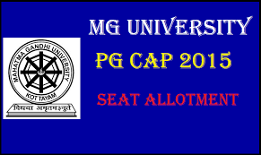 Mahatma Gandhi University: MG University PG CAP Trail Allotment ...