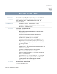 stagehand resume samples and template stagehand resume template resume