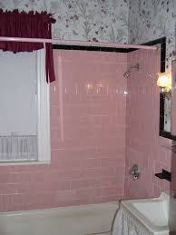 pink tile curtain
