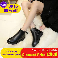 <b>Liren 2019</b> Women Boots Black Tassel <b>PU</b> Leather Winter Warm ...