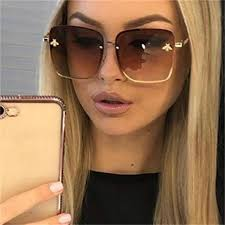 <b>2019 Oversize Square Sunglasses</b> Men Women Celebrity Sun ...