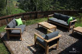 patio couch set the ando teak outdoor furniture set from patio productions