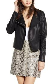 <b>Women's Leather</b> & <b>Faux Leather</b> Coats & Jackets | Nordstrom
