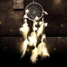 Handmade <b>Dream Catcher</b> Net With <b>Feathers</b> Beads Wall Hanging ...