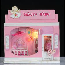 doll house miniature model building kits 3d handmade wooden dollhouse birstday gift european stores beauty brand baby wooden doll house