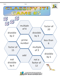 Math Games Worksheets4th grade math games classify it 5
