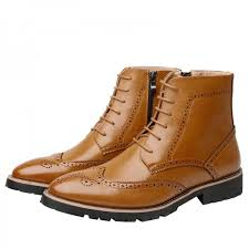 Buy New <b>Spring Autumn Men</b> Boots Pointed Toe Leather Boots Men ...