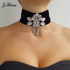 JShine European Black <b>Korea Velvet</b> Popular Choker Necklace ...