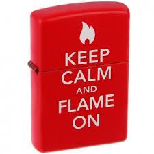 <b>Зажигалка</b> Zippo <b>Classic</b>, <b>Red</b> Matte, Keep Calm and Flame on ...