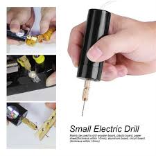 Portable <b>Mini Electric Drills</b> Handheld Micro USB <b>Drill</b> with 3pc Bits ...