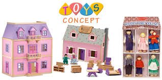 melissa and doug doll house cheap doll houses with furniture