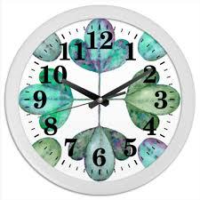 """Часы круглые из пластика """"Яркие листья. <b>Мятный</b> бриз ..."""