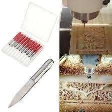 10Pcs 3.175mm Shank <b>PCB</b> Engraving Bits 30 Degree 0.1mm ...
