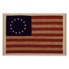 vintage betsy ross flag large bennington ethan allen desk