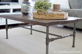 diy rustic industrial pipe coffee table build your own rustic furniture