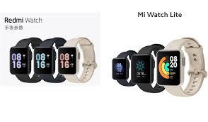 <b>Xiaomi Mi Watch Lite</b> versus Redmi Watch - specs and price