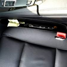 Black <b>Car Storage Box</b> Gap Filler Plastic Console Pocket Organizer ...