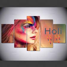 <b>YSDAFEN 5 panel Modern</b> holi hd Art print canvas art wall framed ...