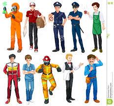 men doing different types of jobs stock vector image 80463686 men doing different types of jobs
