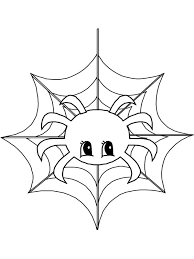 Small Picture Cute Little Spider on Spider Web Coloring Page NetArt