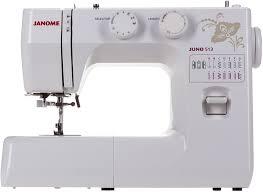 Швейная машинка <b>JANOME Juno 513 white</b>, flowers — купить по ...